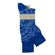 Socks 'Walkable City' I designed for the Dutch socks brand Effio. Effio x Manon Garritsen. CITY blue