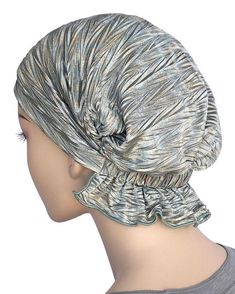 Abbey Cap Women& Chemo Hat Beanie Scarf Turban Headwear for Cancer Blended Knit Blue Green Gold Chemo Beanies, Ruffle Fabric, Mode Hijab, Stretch Lace, Scarf Styles, Hats For Women, Beyonce, Kardashian, Versace
