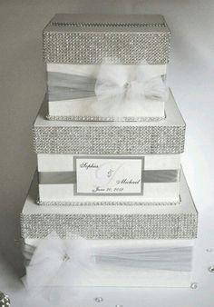 Wedding card box money box wedding gift card money box custom card box wedding box wedding money box 3 tier by diamonddecor solutioingenieria Gallery