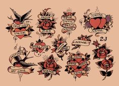 Sailor Jerry Flash Sheets | Pictures of Sailor Jerry 5 Tattoo Flash Sets 37 Sheets Total Vintage ...