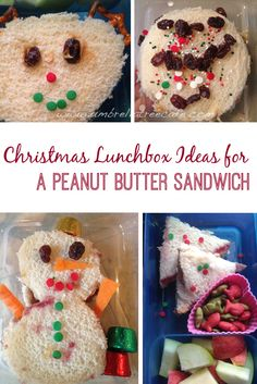 Just Because Your Kid Will Only Eat Peanut Butter Sandwiches Doesnt Mean You Cant Make It Festive For The Holidays With These Easy Christmas Lunch Ideas