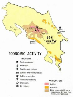 costa rica natural resources | Costa Rica - Land Utilization from Map No. 73665 1970 (78K)