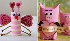 10 Adorables bricolages de Saint-Valentin à faire avec les enfants, à partir de rouleaux en carton! Minnie Mouse, Diy, Christmas Ornaments, Holiday Decor, Glass Display Case, Chocolate Treats, Kid Crafts, Wraps, Stuff Stuff