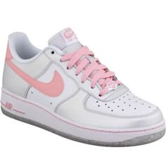 nike air force pink and white
