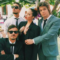 Stefano, Tomas, Angela y Franco grabando para el casamiento Tomanza!