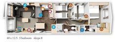 Willerby Granada 2016 40x12.5-3bed floor plan