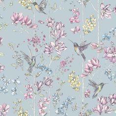 57 Super Ideas for blue bird wallpaper duck eggs Bird Wallpaper Bedroom, Glitter Wallpaper, Paper Wallpaper, Butterfly Wallpaper, Wall Wallpaper, Wallpaper Display, Chinoiserie Wallpaper, Diy Tapete, Hummingbird Wallpaper