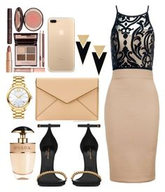 """""""Untitled #237"""" by mmariya1-1m ❤ liked on Polyvore featuring Sans Souci, Topshop, Rebecca Minkoff, Yves Saint Laurent, Charlotte Tilbury, Movado and Prada"""