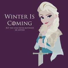 Frozen Is Coming T-Shirt I need this. It's the only thing that will make winter bearable