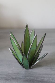 Stained Glass Cactus Glass Succulent Agave Plant Yucca Plant-Stained Glass Cactus Glass Succulent Agave Plant Yucca Plant Glass Sculpture Modern Stained Glass Home Decor Boho Decor Unique Gift - Modern Stained Glass, Stained Glass Flowers, Faux Stained Glass, Stained Glass Designs, Stained Glass Projects, Stained Glass Patterns, Modern Glass, Glass Cactus, Glass Terrarium