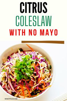 I really want to try new gluten-free side dish recipes and this Citrus Coleslaw with No Mayo looks so good! I can't wait to cook this easy meal for my family.  It looks like the perfect easy slaw recipe.  SO PINNING! #wendypolisi #glutenfree #glutenfreerecipes #healthyrecipes #Citrusslaw Gluten Free Recipes Side Dishes, Gluten Free Recipes For Dinner, Healthy Gluten Free Recipes, Vegetarian Recipes, Healthy Coleslaw, Healthy Meats, Slaw Recipes, Easy Meals, Quick Easy Meals