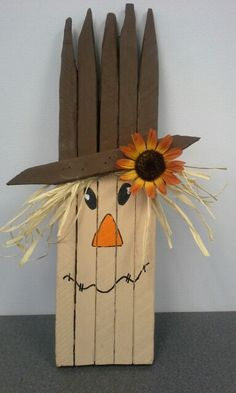 Scarecrow made out of tobacco sticks Fall Crafts, Halloween Crafts, Crafts To Make, Holiday Crafts, Diy Crafts, Fall Projects, Craft Projects, Wood Projects, Thanksgiving Projects