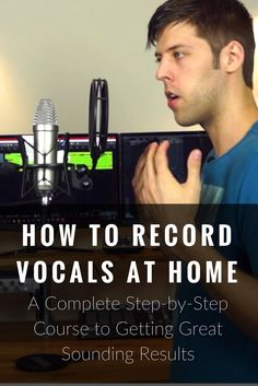 Learn how to record vocals at home and get great sounding results even if you have budget gear and a poor sounding room. Learn Singing, Singing Lessons, Singing Tips, Music Lessons, Art Lessons, Music Recording Studio, Recording Studio Design, Home Studio Music, Sound Studio