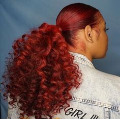 Sleek ponytail with curled weave. Or if your hair is long enough just curled Sleek ponytail with curled weave. Or if your hair is long enough just curled Little Girls Ponytail Hairstyles, Little Girl Ponytails, Hair Ponytail Styles, Weave Ponytail Hairstyles, Cute Ponytails, Curly Hair Styles, Natural Hair Styles, Curly Ponytail Weave, Summer Hairstyles