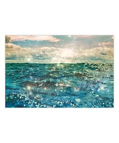 Another great find on #zulily! Glitter on the Water Wrapped Canvas by Salty & Sweet #zulilyfinds