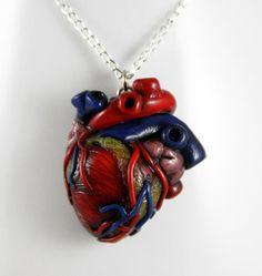 How Much I Love You Anatomical Heart Necklace by NeverlandJewelry, $28.00