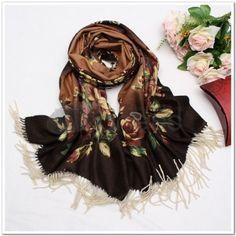 Wool Scarves-Ladies Long thick wool scarves