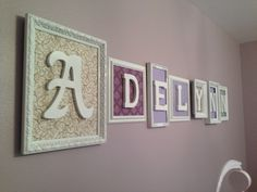 Name wall for baby Adelynn