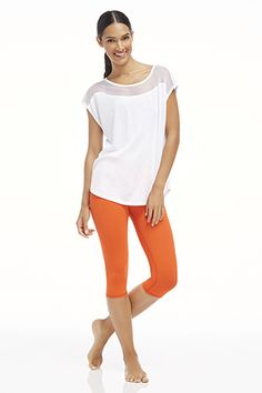 I couldn't resist getting these Salar crops in tangerine. How cute are they? @fabletics #ambsdr