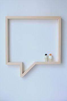 fun shelf: om ideetjes en tekst in op te hangen en kleine spulletjes in te zetten