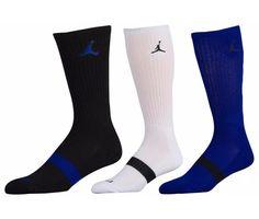 Dri-FIT Fabric pulls away sweat to help keep you cool and comfortable. Nike Michael Jordan, Nike Men, Jordans, Cushions, Socks, Athletic, Fitness, Blue, Throw Pillows