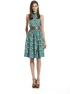 Gucci - Silk Beach Ball Print Halter Dress - Saks.com