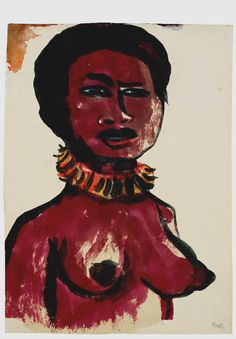Emil Nolde was an anti-semite and a Nazi party member. But his paintings of Pacific islanders and other ethnic groups do not seem unsympathetic at all.