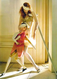 """Soldier, Soldier, Won't You Marry Me?"": Karen Elson by Tim Walker for Vogue UK April 2008"