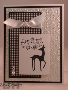 Dasher - Black & White - Stampingwithpassion.blogspot.com - Banu Honnavara