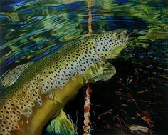 Brown Trout Fish Print - Brown Sugar fishing artwork
