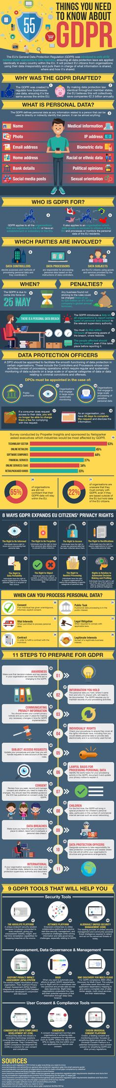 55 Things Business Owners & Marketers Need to Know About GDPR [Infographic]