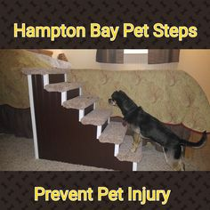 Dog Stairs, High Designer Pet Stairs! Custom Made Dog Stairs For Beds, Dog  Steps, Pet Steps, Choose Your Color To Match Your Decor.