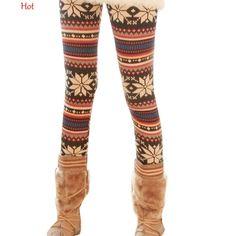 588f2ee4b65 Snowflake Printed Knitted Leggings