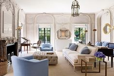 Living Room - Bruce+Budd+Redecorates+Houston+Mansion