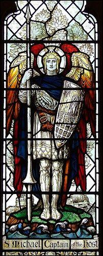 Saint Michael the Archangel, defend us in battle: http://catholicism.about.com/od/prayers/qt/Saint_Michael.htm