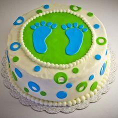 Gâteaux pour Baby Shower : le gâteau pied dans le plat