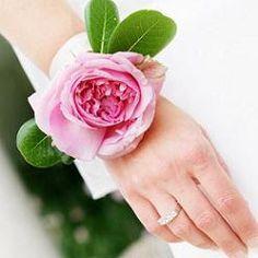 Chasing Rainbows Kissing Frogs: Wedding Wrist Corsage