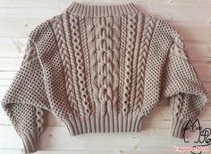 Aran Knitting Patterns, Knitting Stitches, Knitting Designs, Cute Sweaters, Girls Sweaters, Cable Knit Sweaters, Gharara Designs, Chunky Knitwear, Knitted Coat