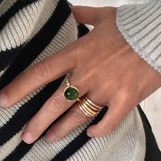 AUTUMN LOOKS 2015 by Ole Lynggaard Copenhagen  Designer's Choice. Lotus ring and Nature rings.  Designed by Charlotte Lynggaard