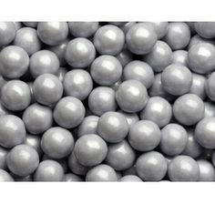 Silver Mini Milk Chocolate Balls Candy: 5LB Bag... come in red too for favors
