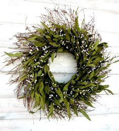 Hey, I found this really awesome Etsy listing at https://www.etsy.com/listing/125883170/scented-bay-leaf-door-wreath-rustic-twig