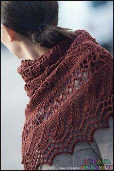 Знаменитая шаль JUNEBERRY TRIANGLE от Jared Flood (BROOKLYNTWEED) - Шали,шарфы,палантины