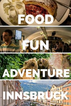 Discover the Food Fun and Adventure to be had in the beautiful city of Innsbruck, Austria. Strudel, craft beer, and the great outdoors are waiting for you. click through to find out more