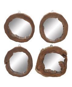 DIY inspiration-Teak Wood Mirror