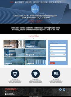 Maqueta de posible sitio web para agrobox.cl