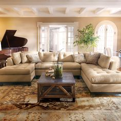 Garner 3 Piece Sectional very comfortable might work in our french industrial living space