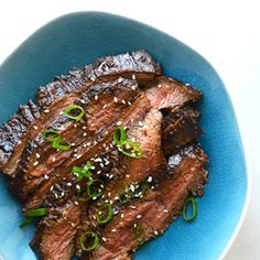 Soy sauce, honey, garlic, ginger and a secret ingredient combine for The Ultimate Asian Flank Steak Marinade.