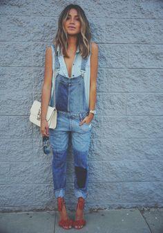 looks para se inspirar, inspiration , looks, outfits, style, street style, estilo , fashion, moda, jeans jumpsuit, macacão, jeans, blue, jeans vest, colete jeans