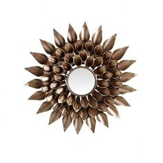 Espejo redondo decoración Flor oro 41 cm IX50393 en Nuryba.com tu tienda de muebles y decoracion online