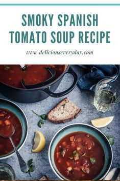 This rustic Smoky Spanish Tomato Soup is packed with vegetables and roasted peppers and spices. Flavourful speedy and healthy this soup is a great weeknight meal. Vegan Gluten Free Desserts, Vegan Recipes, Tomato Soup Recipes, Vegetarian Main Dishes, Roasted Peppers, Vegan Dinners, Weeknight Meals, Glutenfree, Vegan Christmas